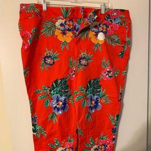 Tropical stretch pants